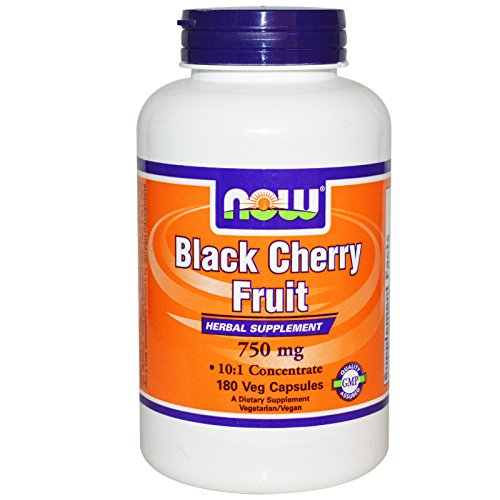 Black Cherry Fruit Extract, 750 mg, 180 Vcaps, From Now Foods (Now Black Cherry Extract compare prices)