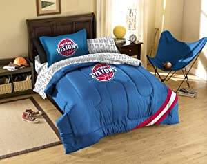 NBA Detroit Pistons 5-Piece Twin Size Bed Set - Royal Blue by Northwest