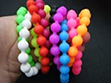10 x Unique Boys Girls different design toys colourful growing foam zoo animals mini pinball bracelets Gift Loot Bag Party Fillers Pass the Parcel Pinata Toys 10x silicone ball bracelets