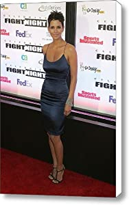 Halle Berry Wearing A Rachel Roy Dress Canvas Print / Canvas Art - Artist Everett