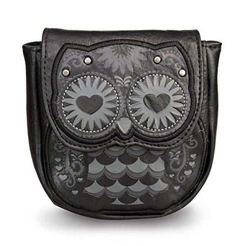 A forma di cuore a forma di gufo Coinbag miniportafoglio Loungefly - (Nero)