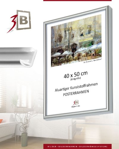 cadres cadre pour poster 70x100 argent cadre. Black Bedroom Furniture Sets. Home Design Ideas