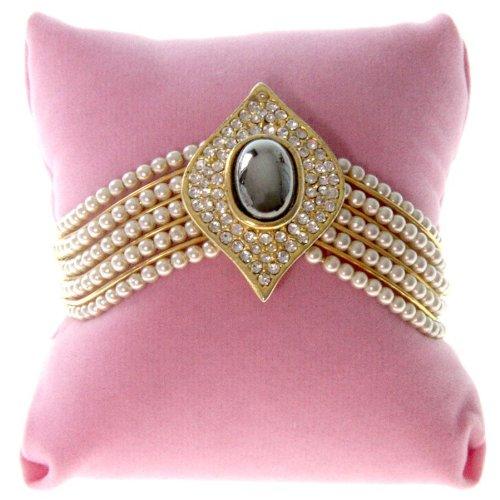 Présentoirs pour Bijoux Schmuckkissen für Armbänder, rosa, (L) 8 x (P) 8