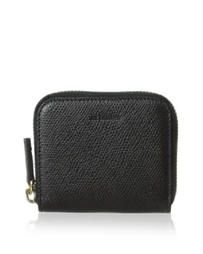Jil Sander Women's Calf Leather Zip Coin Purse  [Black]