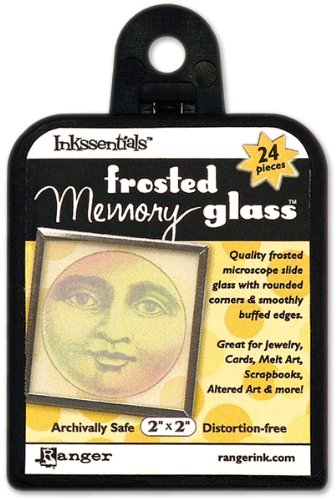 Slide Glass For Crafts-2 Inch Square/Frosted