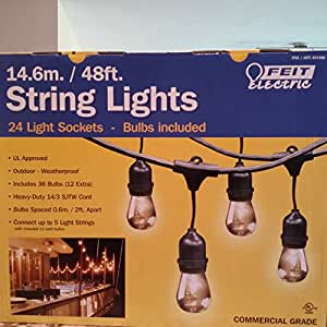 String Lights Feit Electric : share facebook twitter pinterest buy new USD 58 92 qty 1