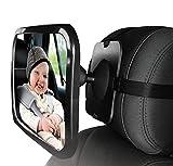 Rücksitzspiegel für Babys Baby Rückspiegel Auto Baby-Spiegel ToullGo® Kindersitz Rückspiegel Baby Spiegel Drehbar Spiegel Auto Rückspiegel für Babys Easy View Baby Rear-view Mirror Baby-Beobachtungsspiegel Sicherheitsspiegel für Kindersitz | Geprüfte Sicherheit |