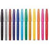 ぺんてる 筆タッチサインペン 12色セット