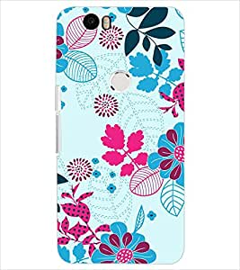 PrintDhaba LEAF PATTERN D-6834 Back Case Cover for HUAWEI NEXUS 6P (Multi-Coloured)