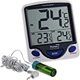Control Traceable 4648 Jumbo Display Vaccine Thermometer with 5ml Round Bottle, -50°C to 70°C (-58°F to 158°F) Range, 0.1° Resolution