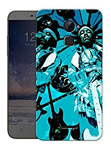 """Jimi Hendrix - Blue Rock Star Printed Designer Mobile Back Cover For """"Coolpad Note 3 Lite"""" By Humor Gang (3D, Matte Finish, Premium Quality, Protective Snap On Slim Hard Phone Case, Multi Color)"""