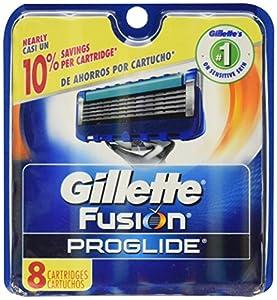 Gillette Fusion Proglide Manual Razor Blade Refills for Men, 8 Count