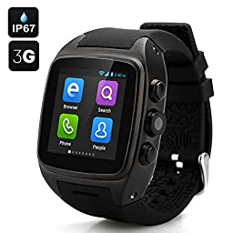IMACWEAR M7 Waterproof Smart Watch Phone,Android 4.4.2 OS Dual-core CPU Sports Pedometer, Heart Rate Monitor, GPS (black)
