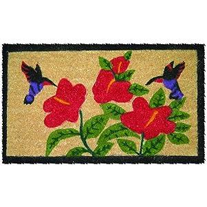 "Entryways Two Hummingbirds Hand Made Coir Doormat 18"" x 30"""