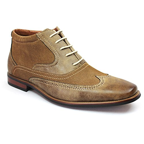 Brown Ferro Aldo Wing Tip Suede Boot