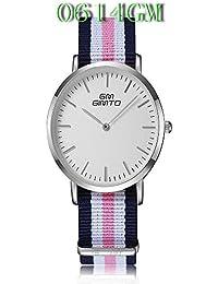 ISweven 2016 New Canvas Belt Fashion Simple Quartz Watches Analogue Multi-Colour Unisex Wrist Watch W1055c