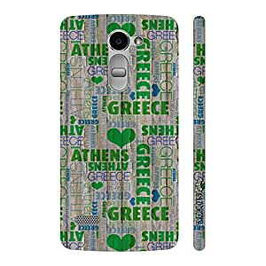 Enthopia Designer Hardshell Case In Love with Greece? Back Cover for LG Ray