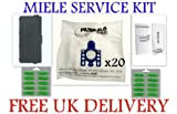 20 x MIELE GN type DUSTBAGS WITH SFAAC50 FILTER S5261 TT5000 CAT & DOG INC AIR FRESHNERS