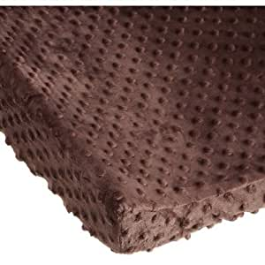 Carters Super Soft Dot Changing Pad Cover, Chocolate (Discontinued by Manufacturer)
