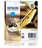 T1622 Epson 16 Original Cyan Ink Cartridge Pen & Crossword Series Ink - C13T16224010