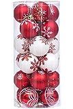 Sea Team 24 Stück Weihnachtskugeln Box Christbaumschmuck aus Kunststoff bis