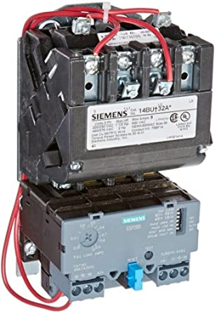Siemens 14bua32ag heavy duty motor starter solid state for Sizing motor starters and overloads