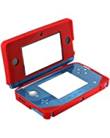 Assecure Red Soft Gel Silicone Cover Case For Nintendo 3DS Protective Bumper Case