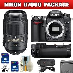Nikon D7000 16.2MP DX-Format CMOS Digital SLR - 3? LCD Body + 55-300mm VR Package 9