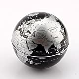 MLM® Magnetic Levitation Floating Globe World Map with LED Light for Learning Education Teaching Demo Home Office Desk Decor Gift