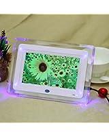 Andoer®7'' HD TFT-LCD Cadre photo numérique Réveille-matin horloge MP3 MP4 Movie Player avec lumière ordinateur de bureau À distance