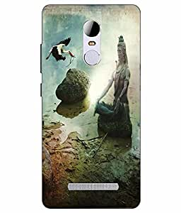 Make My Print Lord Shiva Printed Multicolor Hard Back Cover For RedMI Note 3