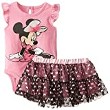 Disney Baby-Girls  Minnie Mouse Creeper with Skirt Set