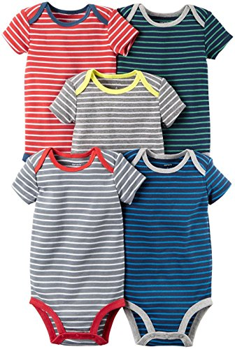 Carter's Baby Boys Multi-Pack Bodysuits, Assorted, 24 Months