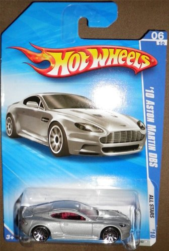 HOT WHEELS 2010 ALL STARS 06 OF 10 SILVER '10 ASTON MARTIN DBS - 1