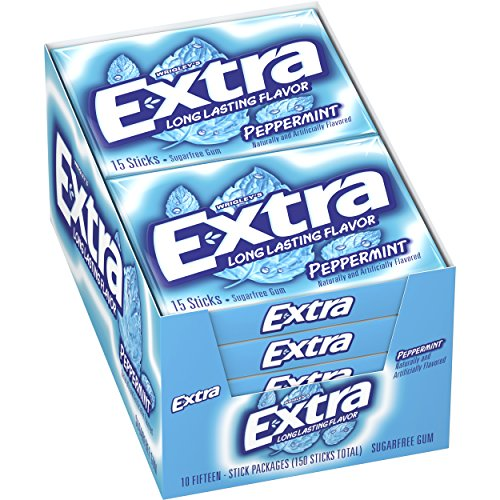 Extra Peppermint Sugarfree Gum (Pack of 10) (Extra Gum Peppermint compare prices)