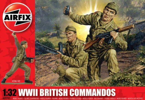 Airfix A02705 1:32 Scale British Commandos Figures Classic Kit Series 2
