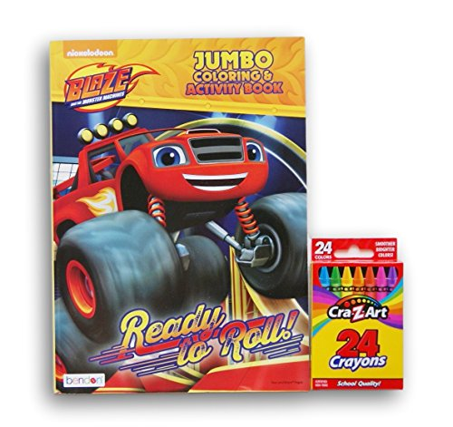 Blaze and the Monster Machines ''Ready to Roll'' Jumbo Coloring and Activity Book with Cra-Z-Art Crayons (Recipes Cra compare prices)