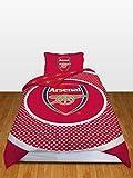 Arsenal FC Bullseye Reversible Duvet Cover Set, Red/White, Single