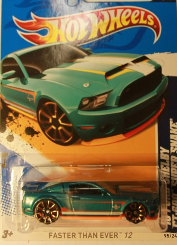 2011 HOT WHEELS 2010 FORD MUSTANG GT 500 SUPER SNAKE AQUA 95/247 AND 5 OF 10 IN SERIES - 1