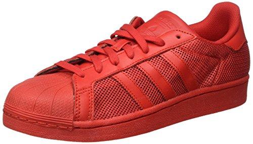 adidas Superstar, Scarpe da Ginnastica Basse Uomo, Rosso (Collegiate Red/Collegiate Red/Collegiate Red), 39 1/3 EU