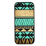 ZPS For iPhone 5 5G 5S Dream Catcher Aztec Wood Turquoise Pattern Snap on Back Hard Beautiful Case Cover (A)