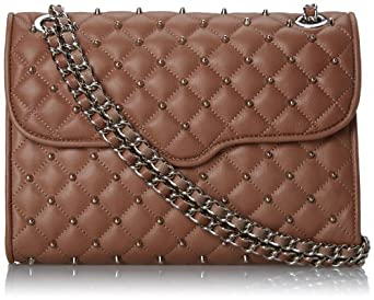 Rebecca Minkoff Quilted Affair With Studs Shoulder Bag,Taupe,One Size