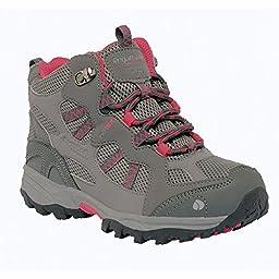 Regatta Great Outdoors Childrens/Junior Crossland Walking Boots (4 US) (Charcoal/Pop)