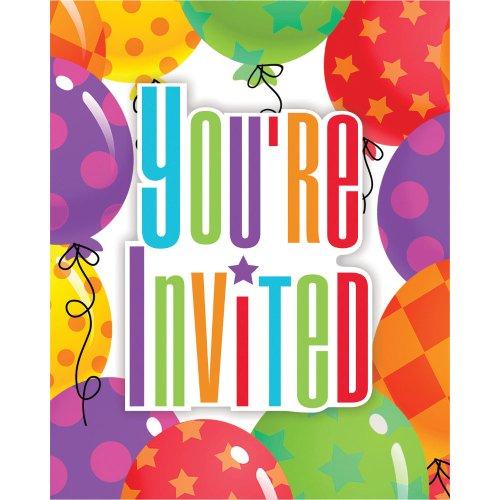 Balloon Patterns Invitations