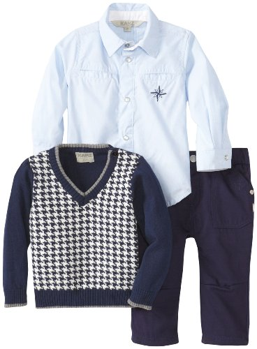 Hot Deal KANZ Baby Baby-Boys Infant 3 Piece Sweater Set, Peacoat, 12 Months  Review