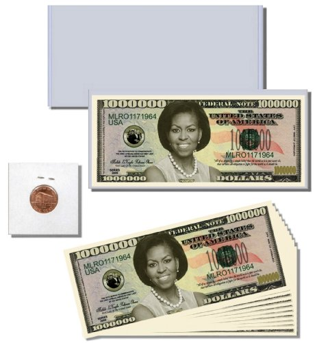 12pc. Money Gift Set featuring First Lady (First Family) Novelty Million Dollar Bill - 1