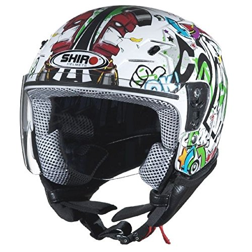 Casco-de-moto-jet-nio-SHIRO-SH-20-Comics-KIDS-color-blanco