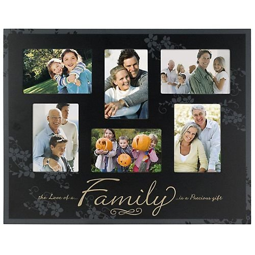 1 Cheap FAMILY 6-opening collage special ebony-black keepsake frame ...