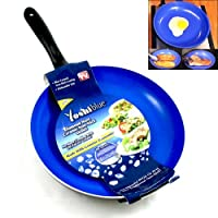 Non Stick Yoshi Blue Ceramic Diamondware Skillet 9.5