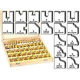 Yonico 17502 50 Bits Professional Quality Router Bit Set C3 Carbide 1/2-Inch Shank